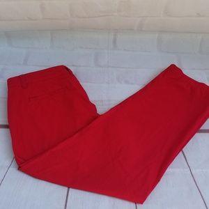 🌼 Ralph Lauren Red Capri Pants 100% Cotton